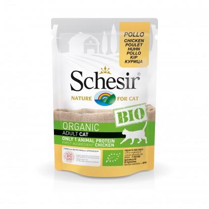 Sachets Bio chat adulte Schesir 8x85g Poulet