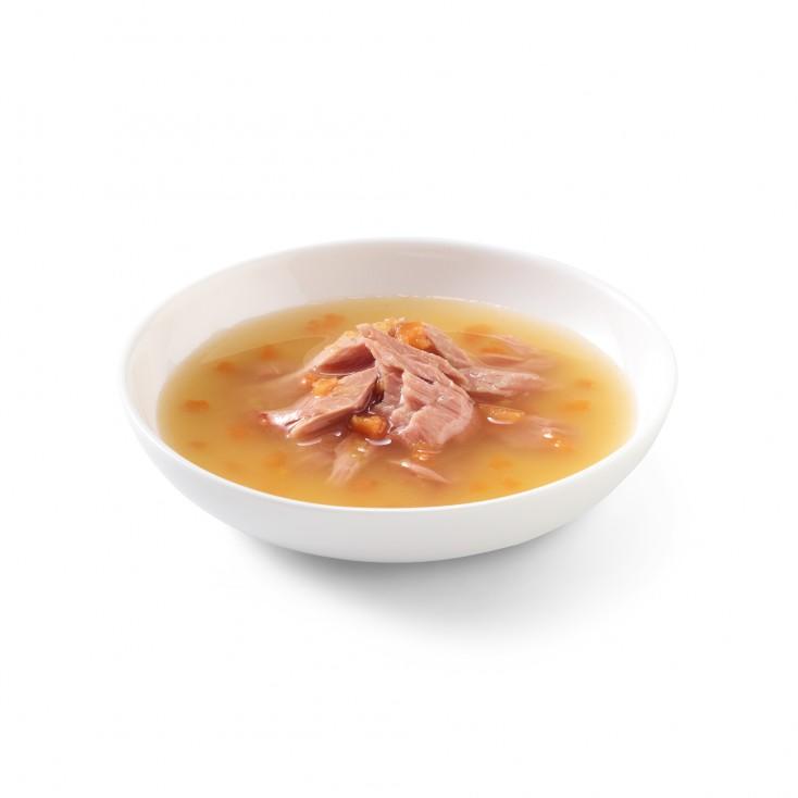Soupes pour chat Schesir 10x85g Thon sauvage et citrouille viseul