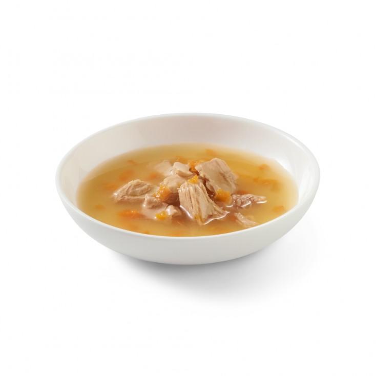 Soupes pour chat Schesir 10x85g Saumon rose sauvage et carottes visuel