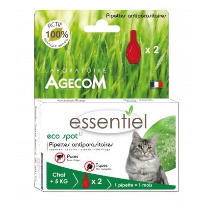 Pipettes Eco spot pour chats - ESSENTIEL