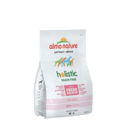 Croquettes pour chiens sans céréales (Grain Free) Hollistic Almo Nature