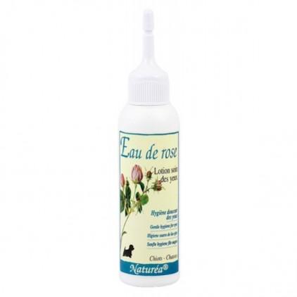 Nettoyant pour les yeux des chiens et chats - Eau de rose - Naturéa