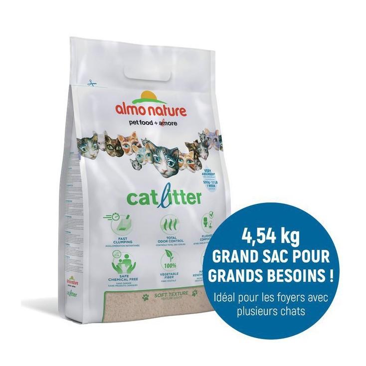 Litière naturelle végétale pour chats - Cat Litter - Almo Nature